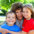 Grandmother with grandchild - Stock Photo