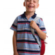 Schoolboy with backpack — Stock Photo #1842508