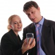 Businessmen and businesswoman — Stock Photo #1843823