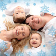 Happiness amicable family — Stock Photo