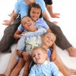 Happiness large family — Stock Photo