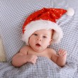 Santa on the bed 2 — Stock Photo #1846158