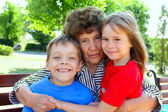 Grandmother with grandchild — Stock Photo