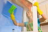 Kadınlar 4 pencere temizleme — Stok fotoğraf