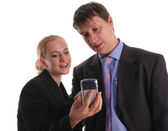 Businessmen and businesswoman — Stock Photo