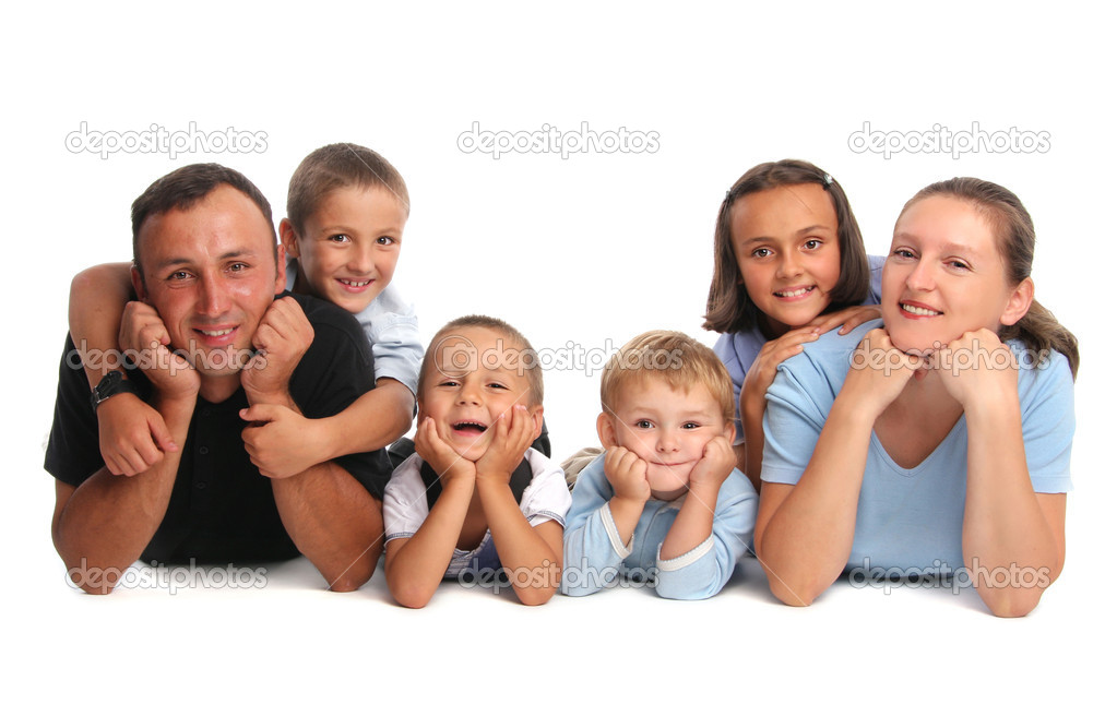Happiness family having many children — Stock Photo #1846615