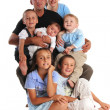 Royalty-Free Stock Photo: Family with five children