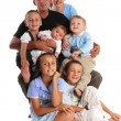 Stock Photo: Family with five children