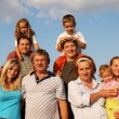 Stock Photo: Happiness large family