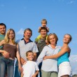 Happy big family — Stock Photo