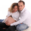 Pregnant woman with the husband — Stock Photo #1852999