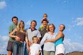 Happy big family — Stock Photo
