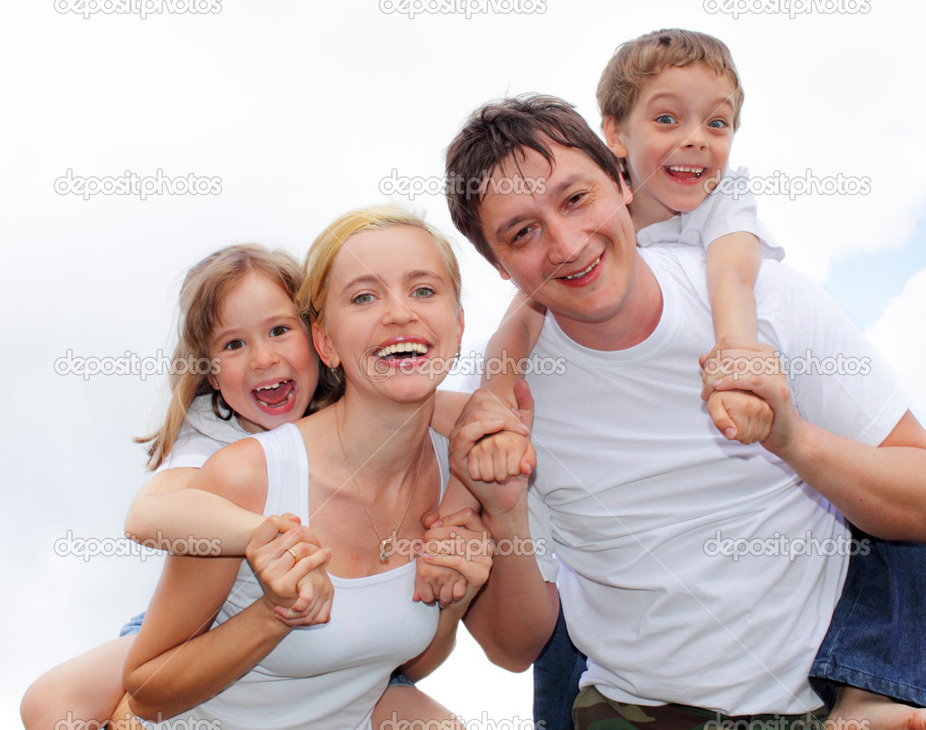 Happiness family with two children  — Stock Photo #2457191