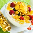 Royalty-Free Stock Photo: Corn flakes and fresh berries