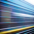 Train passing by. Motion blur — Stock Photo