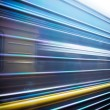 Stock Photo: Train passing by. Motion blur