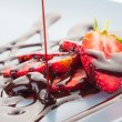 Strawberry in chocolate — Stock Photo #2416649