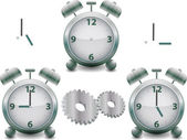 Vector metal clock — Stock Photo