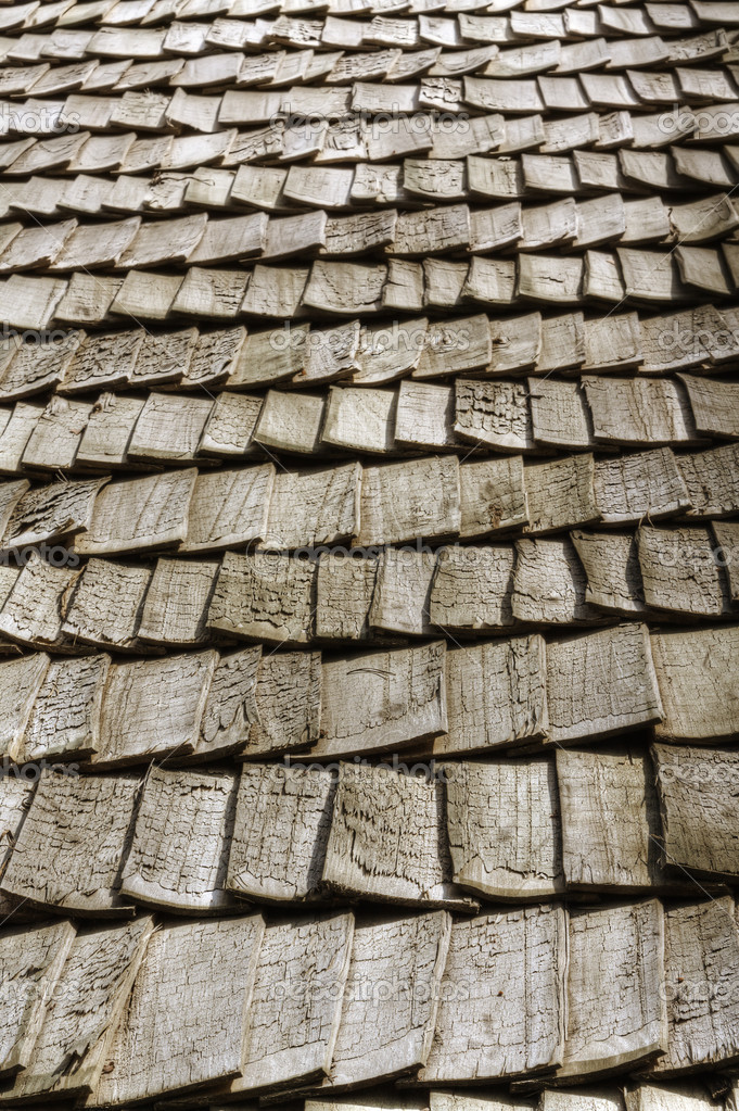Wooden roof in perspective — Stock Photo #1595118