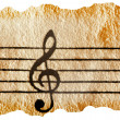 Stock Photo: Music notation key