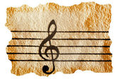 Music notation key — Stock Photo
