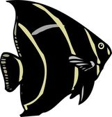 Beautiful Fish Vector — 图库矢量图片