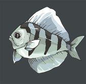 Beautiful Fish Vector On Background — Vecteur