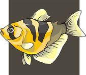 Vettore bellissimo pesce sullo sfondo — Vettoriale Stock