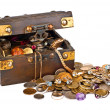 Valuable chest of treasures - Stock Photo