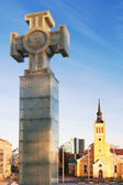 The Cross of Liberty. Tallinn, Estonia — Stock Photo