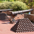 Cannon and cannon balls. Monaco - Stock Photo