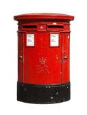 British red post box — Stock Photo