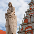 Sculpture of Roland. Riga, Latvia - 
