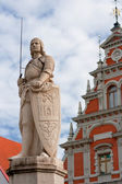 Sculpture of Roland. Riga, Latvia — Stock Photo