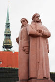 Latvian Riflemen monument. Riga, Latvia — Stock Photo