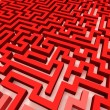 Stock Photo: Simple red maze