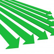 Stock Photo: Green arrows