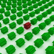 Metaphor of Green house — Stock Photo