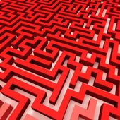 Simple red maze — Stock Photo