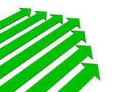 Green arrows — Stock Photo