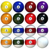 Pool balls — Stock Photo