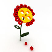 Flowers made of gears — Stock Photo