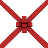 Beautiful Red ribbon and bow isolated — Photo