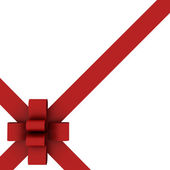 Beautiful Red ribbon and bow isolated — Foto Stock