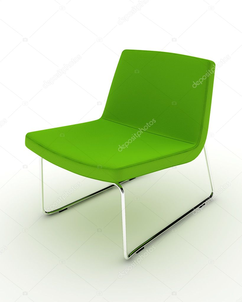 modern green chair isolated on white — stock photo © ericmilos  - modern green chair isolated on white — stock photo