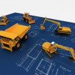 Yellow Loader and Dump — Stock Photo #1720863