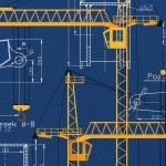 Yellow Crane 3D Render — Stock Photo
