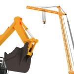 3D yellow crane — Stock Photo #1722104