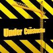 Unique Render of Under Construction Sign — Stock Photo