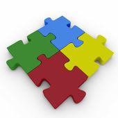 Beautiful jigsaw puzzle — Stock Photo